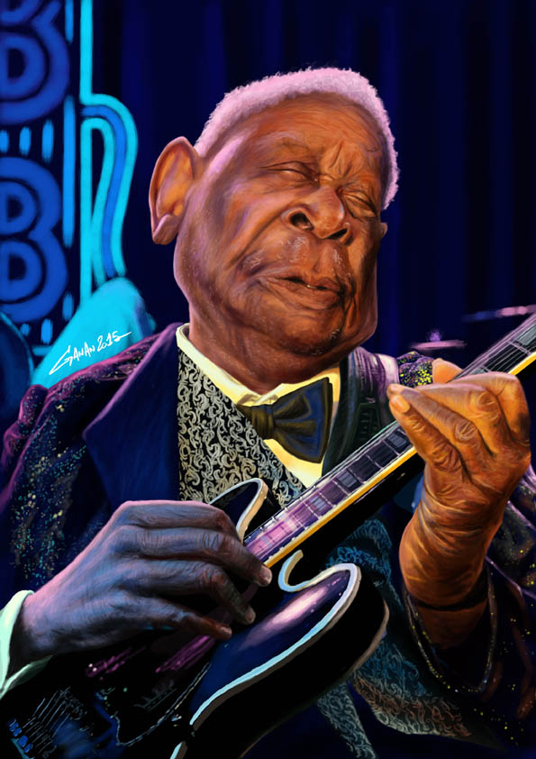 Caricature BB KING Ganan Web