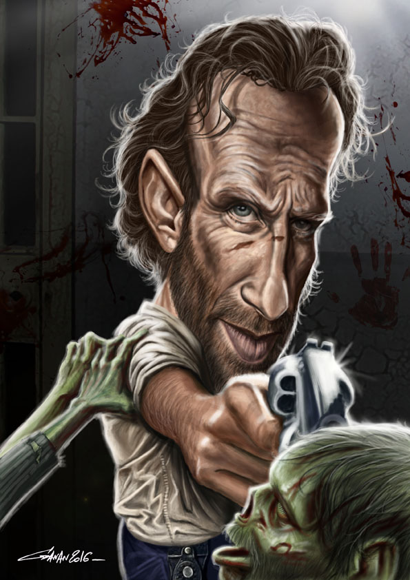 caricature-walking-dead-ganan